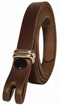 "12.5 mm Chocolate Snap Fit Leather Belt (½"")"